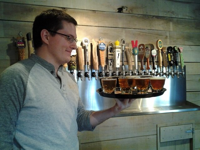 The Growler's manager Kevin Eble is a friendly and expert guide to seasonal, local, and national labels.