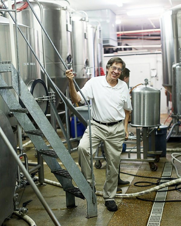 One of Boscos founders, Chuck Skypeck, inside the brewery on Main Street at Crump.