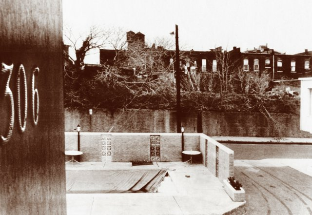 A view of the boarding house from which the fatal shot was fired.