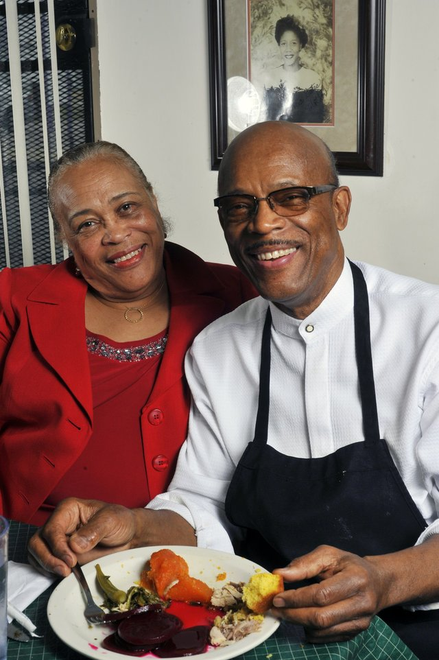 Willie Earl Bates with his wife, JoEllen