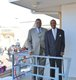 Bernard King and JoJo White on the Museum's balcony.