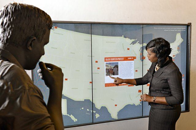 Football players at the University of Wyoming were among those staging nonviolent protests in 1969.