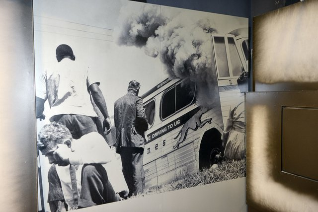 "The Montgomery Bus Boycott in 1955-56 was sparked by Rosa Parks' arrest after she ""sat where she didn't belong."""