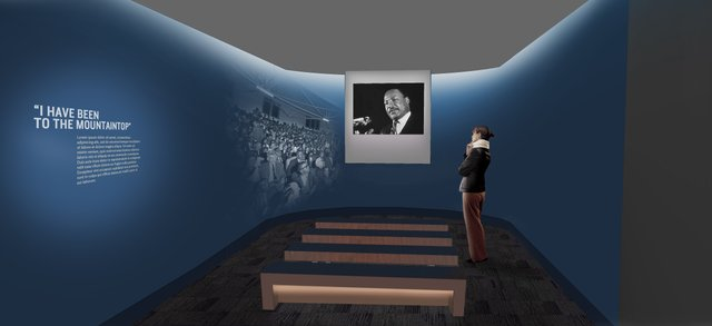 "Also part of the ""Memphis"" exhibit is the Mountaintop Theater, where visitors hear King's last address delivered on the eve of his death."