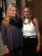 Hair stylist Lucy Hadskey and Lauren Draffin.