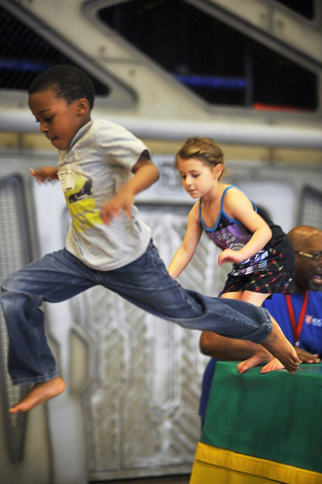 Memphis youngsters find plenty to love at the Kroc Center, whether it's leaping hurdles or wading in the pool — not to mention birthday parties, which are regular events at the center.