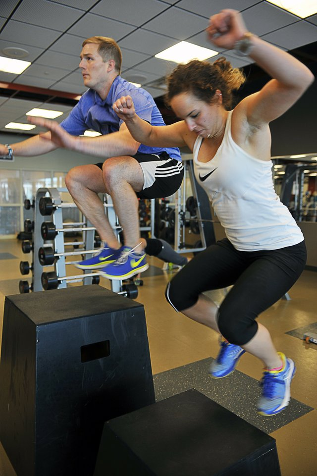 Married couples and families often work out together on state-of-the-art equipment.