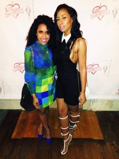 "Talia Pepe aka ""Talia Bella"" with a fellow fashion-lover at Night 2 of Memphis Fashion Week."