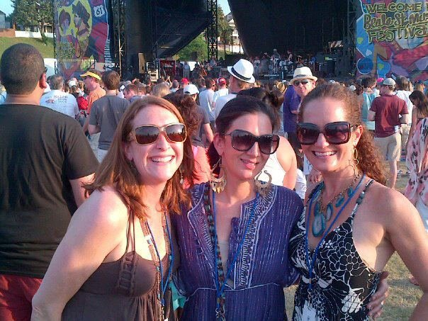 Lee Googe, Me, and Kellie Clements rockin' out to The North Mississippi Allstars at BSMF '12.