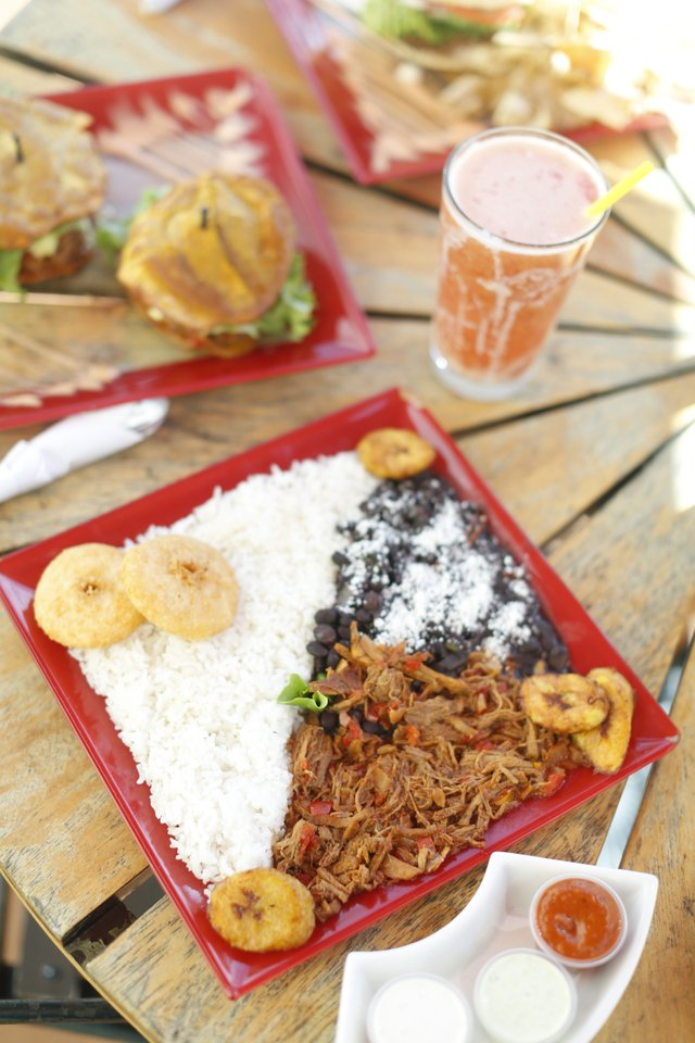 "Arepa & Salsa: Pabellon ""Oscar D'Leon"" is a variation of the national dish."