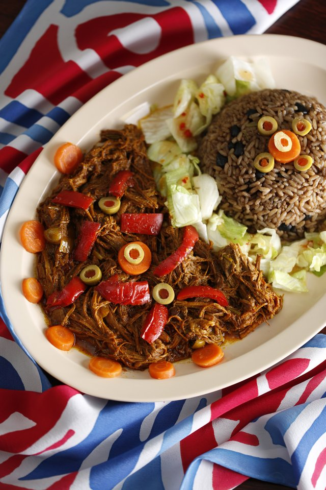 Havana's Pilón: Ropa Vieja is a traditional dish of shredded beef in a light tomato sauce.