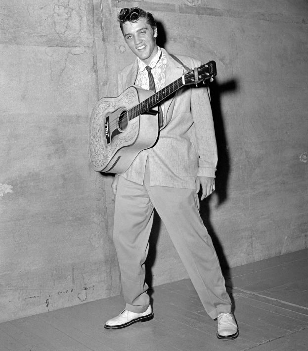 Elvis at Overton Park Shell August 5, 1955.