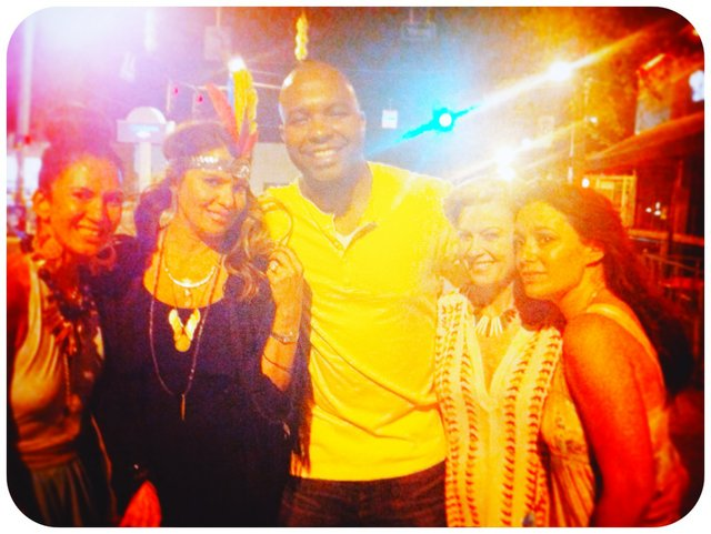 Me, Lucia, Dewayne Campbell, Raquel Carls, and Donna Van Hoozer...we were the last gitanas dancing til the wee hours.