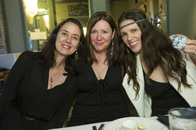 Bazaar Beauties Jeanne Wilbourn, Patti Trippeer, and Muffy Turley.