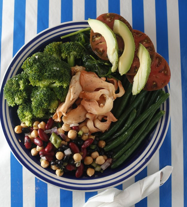 egetable plate available at Trolley Stop Market from produce grown by the Forresters at Whitton Farms.