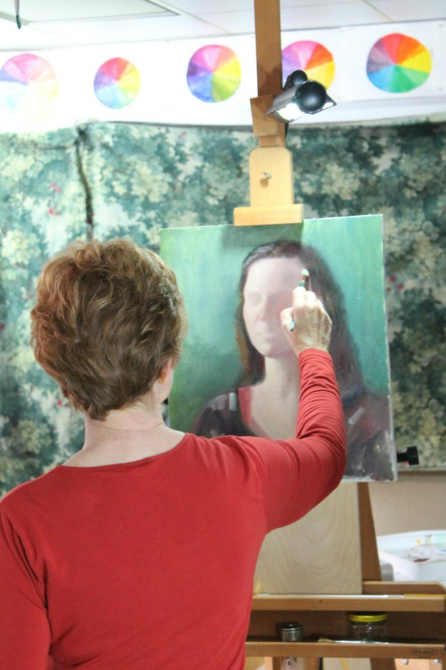 Glenda Brown completes her portrait