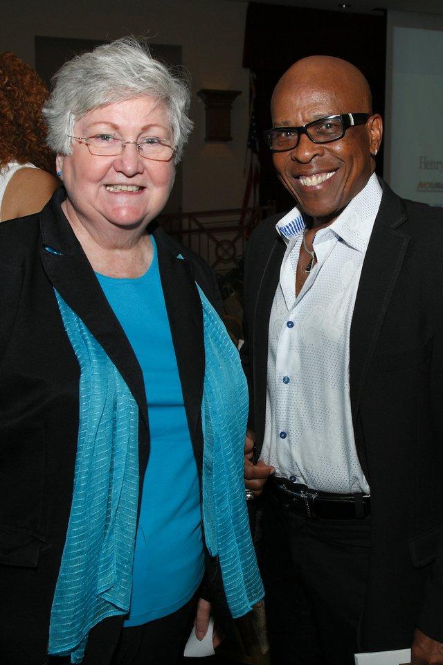 Mayor Sharon Goldsworthy and David Porter