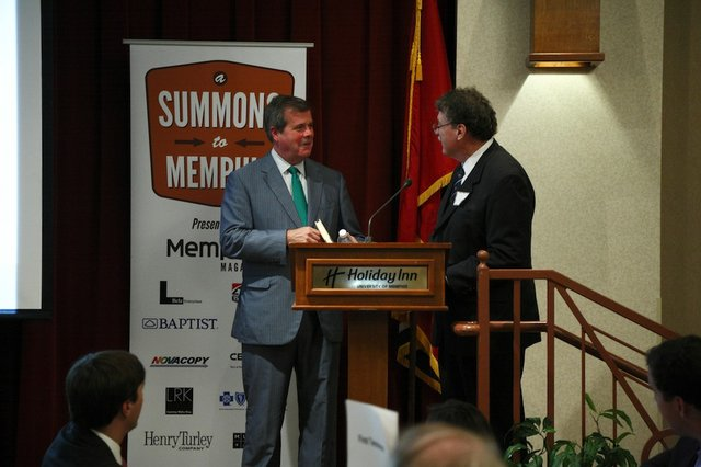 Mayor Karl Dean and Kenneth Neill