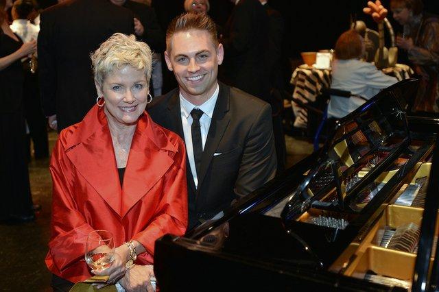 Brennan Villines at the piano with Delia Parman