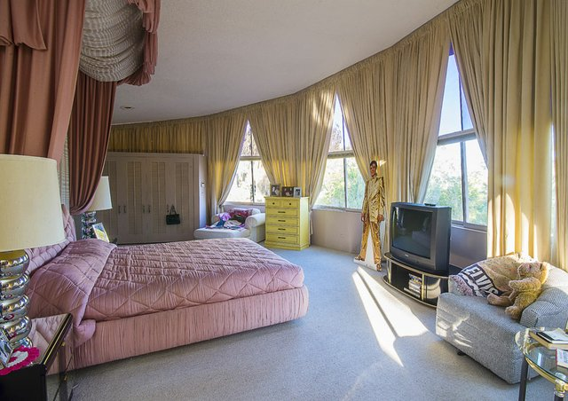 Elvis and Priscilla only spent a few days in this master bedroom suite before heading back to Memphis.