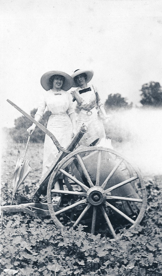 """""""Agnes and Lena,"""" in what seems to be a rural farm scene that could easily be in the center of Memphis now."""