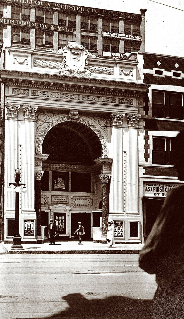 The Princess Theatre had just opened on Main Street when this photograph was taken in 1912. It was demolished in 1972.