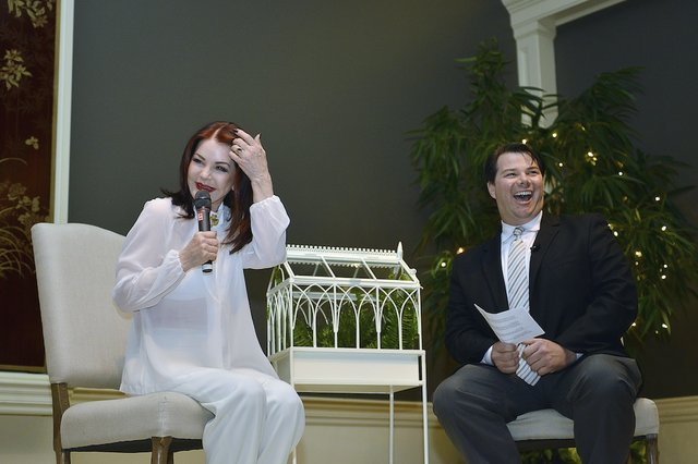 Priscilla Presley and Kevin Kern