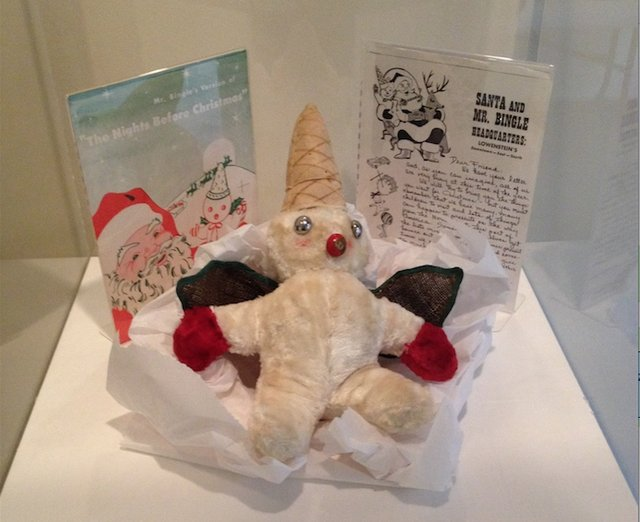 Vintage Mr. Bingle memorabilia, including an original doll and one of his newsletters to children, were on display at the Memphis Potters Guild holiday show.