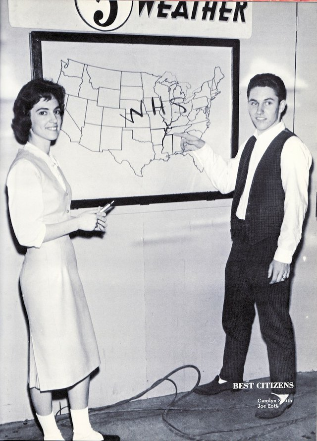 "Carolyn Smith and Joe Eoff, Whitehaven High School's ""Best Citizens"" in 1961"