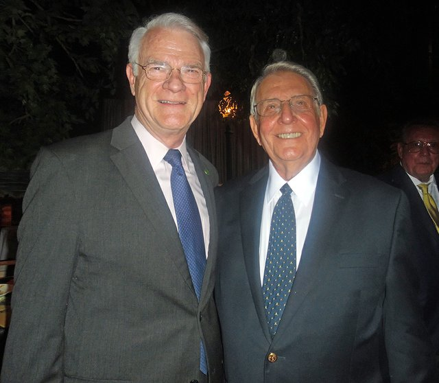 "Bill Morris (right) at ""Lessons in Leadership"" Graceland gala with Mark Luttrell, who, like Morris, moved from the office of Sheriff to that of Shelby County Mayor."