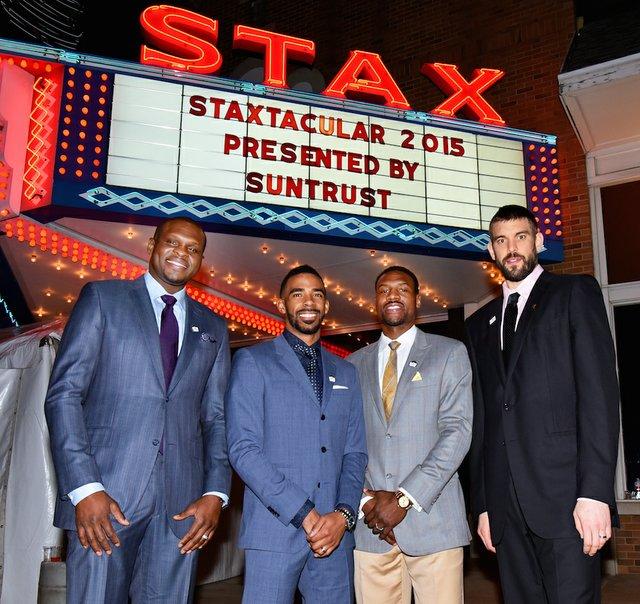 Memphis Grizzlies Zach Randolph, Mike Conley, Tony Allen, and Marc Gasol