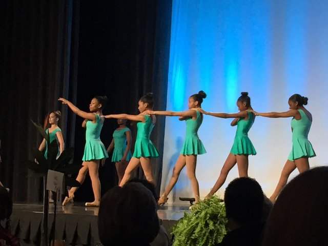 Collage Dance Collective dancers open the luncheon and symposium.
