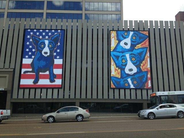 Louisiana Artist George Rodrigue S Blue Dogs Guard Midtown
