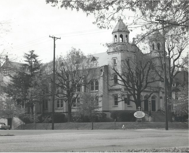 Trinity United Methodist Church as it looked in 1975