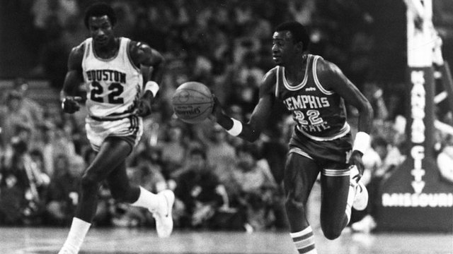 Former Memphis Tiger, Bobby Parks, Sr., playing in the 1983 Sweet 16.