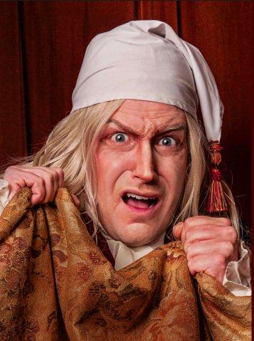 "David Shipley as Scrooge in ""A Christmas Carol"""